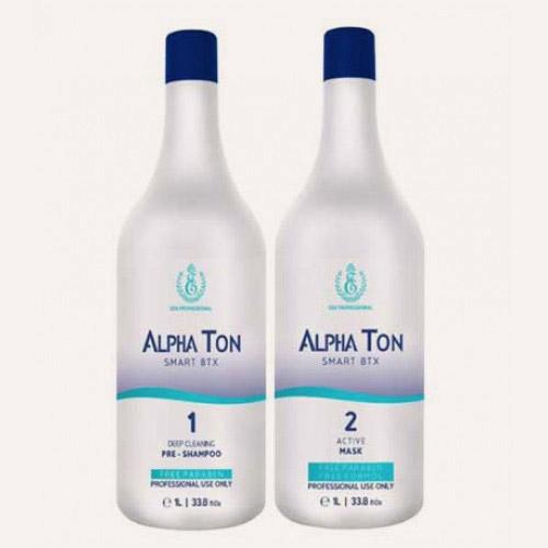 Процедура кератинового выпрямления волос горячим ботоксом Alpha Ton состоит из двух этапов: очищение и кератиновое выпрямление.