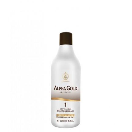 Подготавливающий шампунь для волос Alpha Gold, 500 мл
