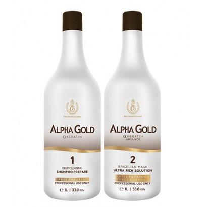 Профессиональный набор кератина Alpha Gold, 1000 мл