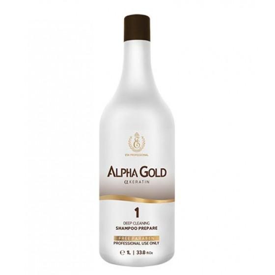 Подготавливающий шампунь для волос Alpha Gold, 1000 мл
